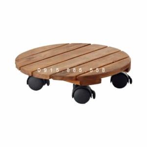 Đế gỗ bánh xe chậu cây di chuyển