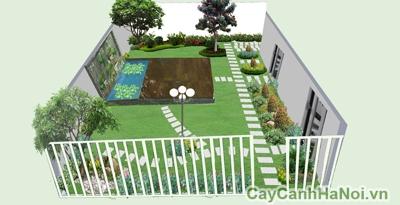 Thiet kế toàn bộ cảnh quan sân vườn - Cây cảnh Hà Nội