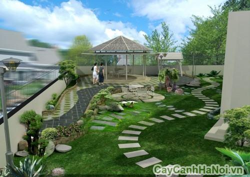 Cảnh quan sân vườn hài hòa