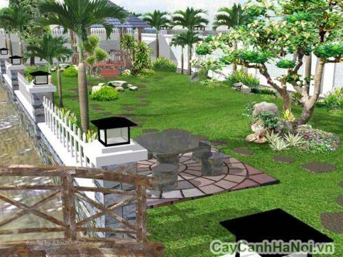 Sân vườn tiểu cảnh