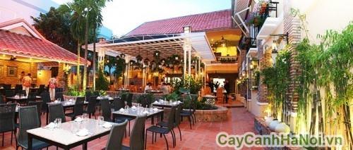 Sân vườn nhà hàng