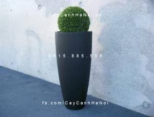 Chậu hoa composite iPot tròn cao cấp| IP-00005
