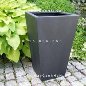 Chậu nhựa composite iPot vát đáy cao cấp| IP-00164