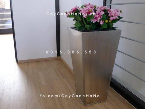 Chậu nhựa trồng cây composite iPot vát đáy | IP-00075