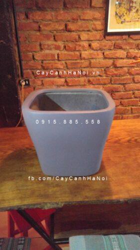 Chậu nhựa composite iPot vuông vát đáy| IP-00111