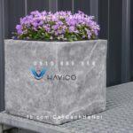 Chậu nhựa trồng cây composite Havico vuông| HVC-00021