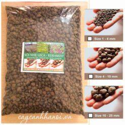Sỏi nhẹ Keramzit - viên đất nung trồng lan