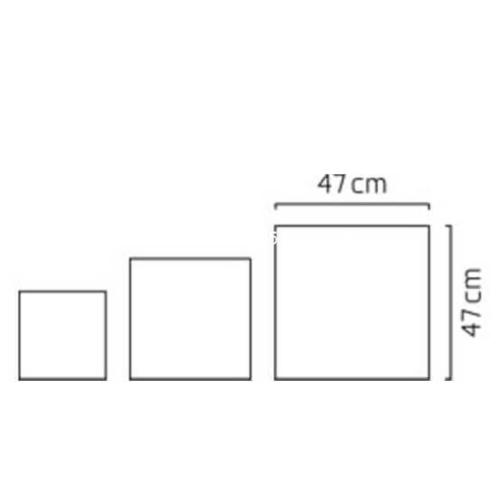 Chậu cây cảnh composite Esteras Lisburn vuông thấp