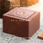 Đài phun nước Esteras TOA trụ vuông thấp màu thép gỉ